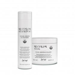 BE COLOR Maska po koloryzacji dla włosów farbowanych z kawiorem, keratyną i kolagenem 500ml