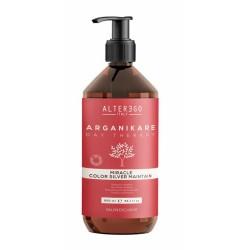 Alter Ego Arganikare Miracle Color Silver Maintain Shampoo   Szampon przeciw żółtym tonom 950ml