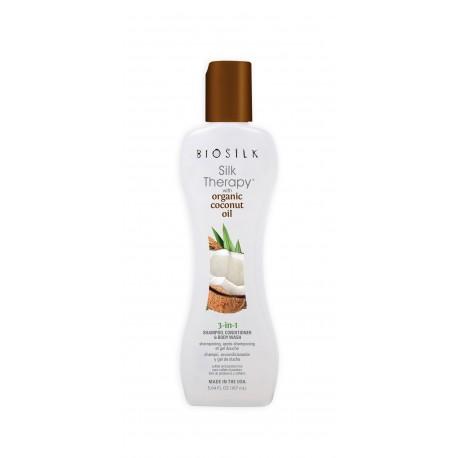 Biosilk Silk Therapy with Coconut Oil 3 in 1 Szampon, Odżywka i Żel do mycia 167ml
