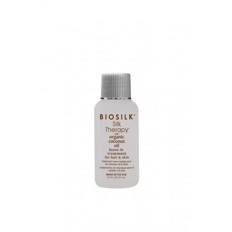 Jedwab z kokosem Biosilk Silk Therapy with Organic Coconut Oil Leave-in Treatment 15ml