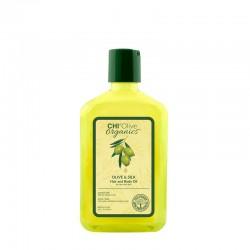CHI Olive Organics Olive & Silk Hair and Body Oil Oliwka nawilżająca do włosów i ciała z oliwą i jedwabiem – 59ml