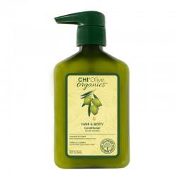 CHI Olive Organics Hair & Body Conditioner Odżywka nawilżająca do włosów i ciała z oliwą z oliwek i jedwabiem 710 ml