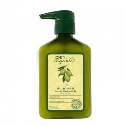 CHI Olive Organics Styling Glaze Nawilżający średnio utrwalający żel do stylizacji – 340ml