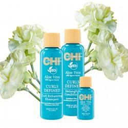 Zestaw CHI ALOE VERA - szampon 30ml + odżywka 30ml + olejek 15ml